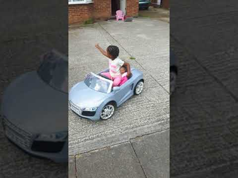 3 year Old Learning to drive Audi R8
