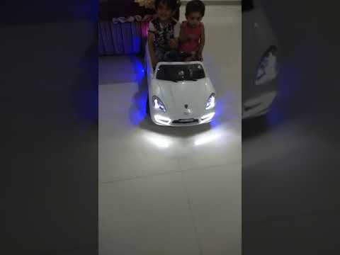 My cute little baby & boy drive audi