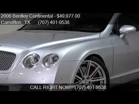 2006 Bentley Continental GT AWD 2dr Coupe for sale in Carrol