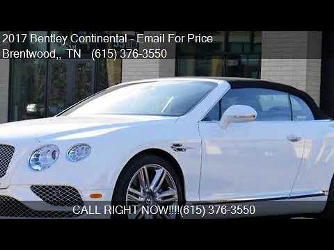 2017 Bentley Continental GT V8 AWD 2dr Convertible for sale