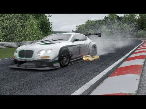 PROJECT CARS 2 NURBURGRING BENTLEY continental GT3 TEST (WET)