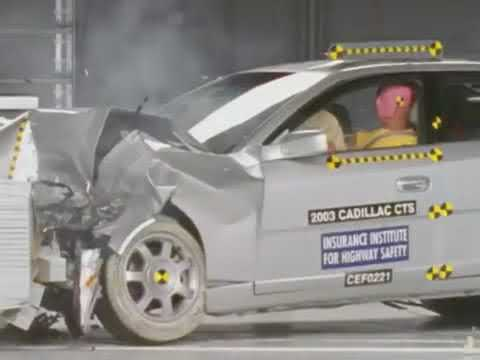Cadillac CTS moderate overlap crash test