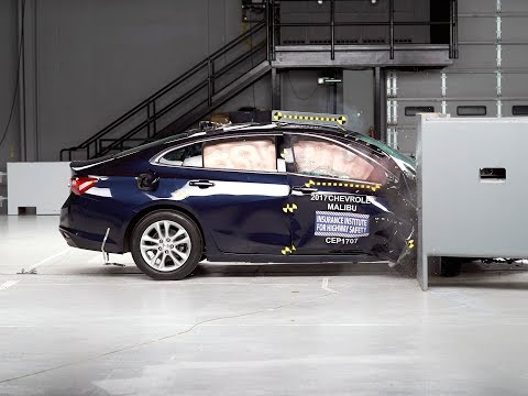 2017 Chevrolet Malibu passenger-side small overlap IIHS crash test