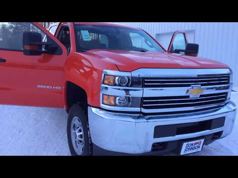 2018 Chevrolet Silverado 2500HD WT 4WD Red Hot (H18059)