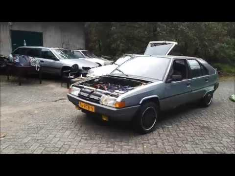 First test drive Citroen BX after motorswap