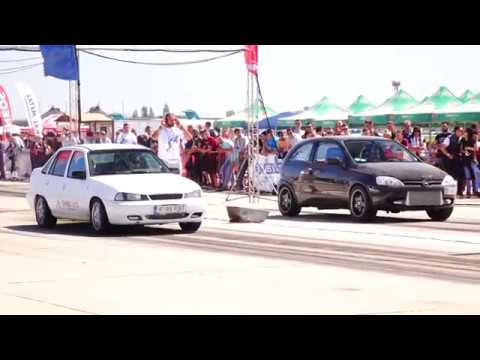 DAEWOO CIELO 2.0 TURBO 300HP vs OPEL CORSA TURBO