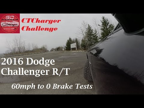 60 to 0 Braking tests Dodge Challenger RT