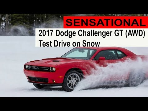 SENSAIONAL 2017 Dodge Challenger GT AWD – Test Drive on Snow