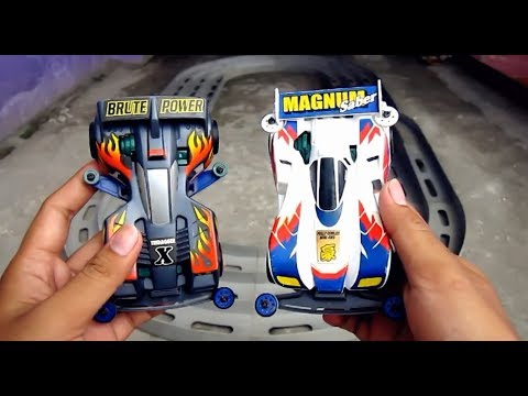 Balapan TAMIYA Mini 4WD TRIDAGER X vs MAGNUM SABER # TAMIYA Test and Review