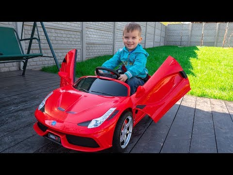 Funny BABY Unboxing And Test Drive The Ferrari - Ride On Mini Ferrari POWER WHEEL by Melliart
