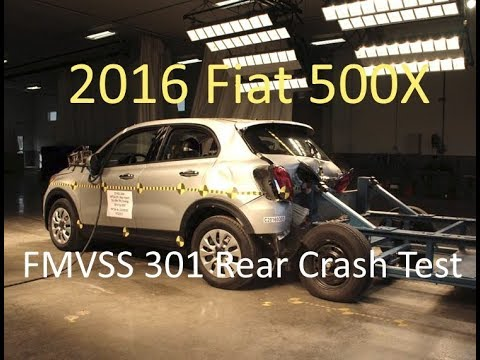 2016-2019 Fiat 500X FMVSS 301 Rear Crash Test (50 Mph)