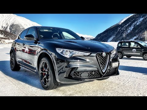 2018 Alfa Romeo Stelvio QV, Jeep Grand Cherokee STR and Fiat - TEST DRIVE on SNOW and ICE