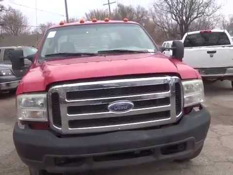 2007 Ford F350 4X4 CC FB red 6 0L TDSL