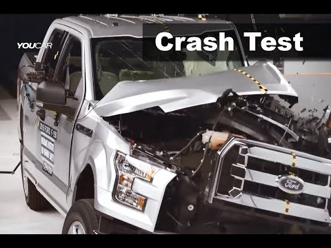 Crash Test Ford F-150 Aluminium Body and Steel Body dummies