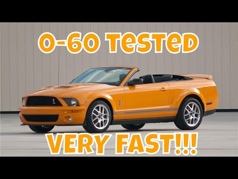 Ford Mustang GT500 0-60 Test