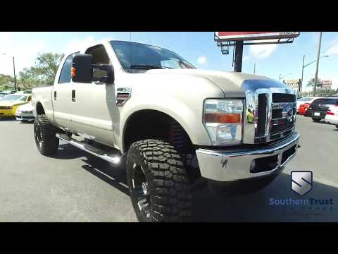 LIVE VIDEO 2008 Ford F 250 SD Lariat Crew Cab 4WD #D72628 Southern Trust