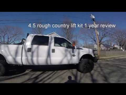 Rough Country 4.5 lift kit on 2011 Ford F 250 review.
