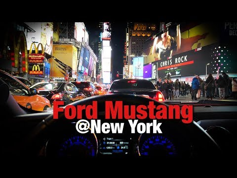 Test Ford Mustang @ New York City - Exhaust sound, accelerations... HD
