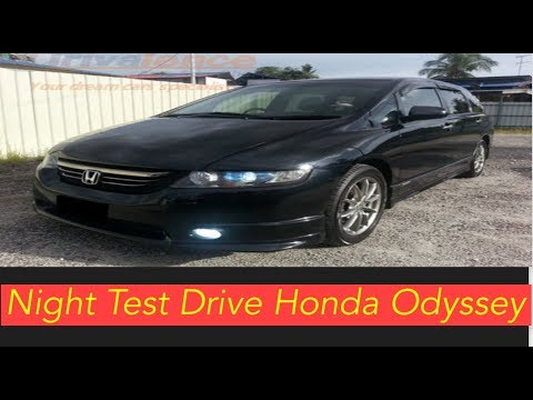 Night Test Drive Honda Odyssey