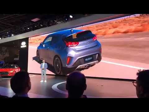 2019 Hyundai Veloster makes debut in Detroit