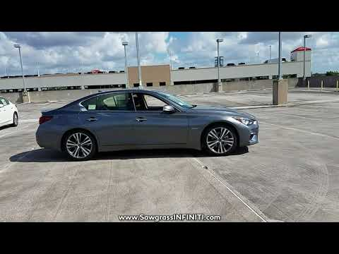 NEW 2018 INFINITI Q50 HYBRID LUXE RWD at Sawgrass INFINITI New #180059