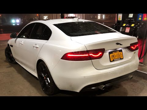 Jaguar xe snap crackle pop stock exhaust velocity ap tune