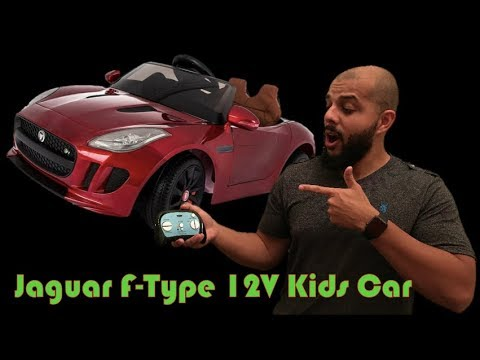 Stuntin' In A Jaguar F Type 12V RC Kids Power Wheels Style Car