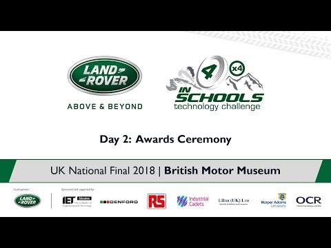 Land Rover 4x4 in Schools UK National Final 2018 - Awards Ceremony