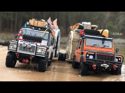***Land Rover Defender 110's x2 with matching Campers x2***Tybo's RC Motorsports** Pure RC 4x4