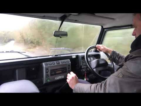 land rover defender 90 TD5 XS SW for sale in action