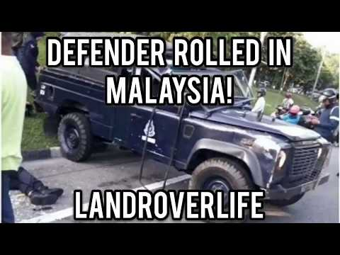 Land Rover Defender Rolls Over In Malaysia Kuala Lumpur
