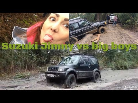 Suzuki Jimny first time off road vs the big boys