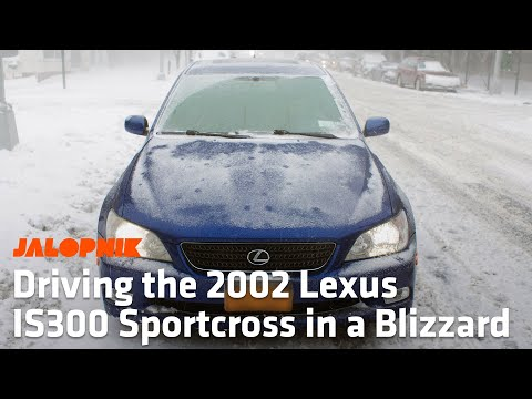 Driving a 2002 Lexus IS300 Sportcross in a Blizzard