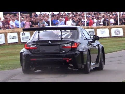 Lexus RC F GT Concept 5.0 NA V8 LOUD Sounds @ Goodwood Hillclimb!