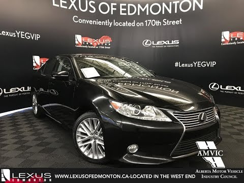 Used Black 2013 Lexus ES 350 Technology Package Walkaround Review Stony Plain Alberta