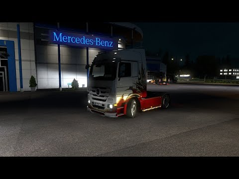 Тест драйв Mercedes-Benz.  Euro Truck Simulator 2 Multiplayer.