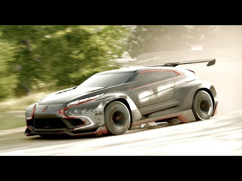 Mitsubishi Concept XR-Phev Evolution Vision Car Test Drive and Race Review and Gameplay GT SPORT