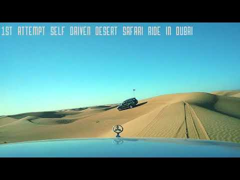Self driven desert safari ride in Dubai 1st attempt Mitsubishi Pajero 3.8L V6 4 wheel drive