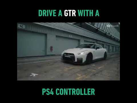 DRIVE NISSAN GTR WITH A PS 4 CONTROLLER