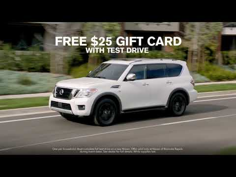 Free Gift Card with A Test Drive at Nissan of Roanoke Rapids