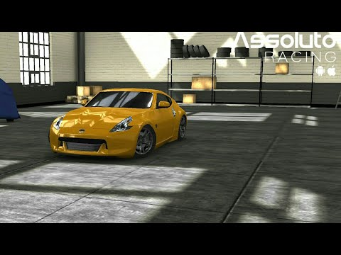 Gameplay. assuluto racing/test drive nissan 370Z/test speed from 0/200km/before tuning/after tuning
