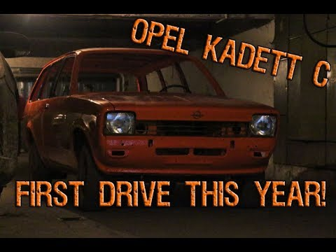 First drive Opel Kadett C Caravan, January 2018