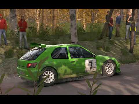 Dirt Rally Finland Kailajarvi stage 1st try, 2 big moments,  Peugeot 306 Maxi Kitcar FWD