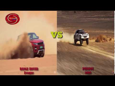 RANGE ROVER EVOQUE vs PEUGEOT 3008 ( engine test, snow test, off road test, )MINIONS STYLE