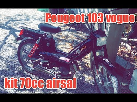 Test Peugeot 103 vogue kit 70cc airsal ?