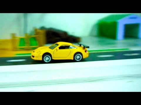 Yellow Sports Car Toy Play and Drive (Porsche 911) I Car Toy Video for Kids