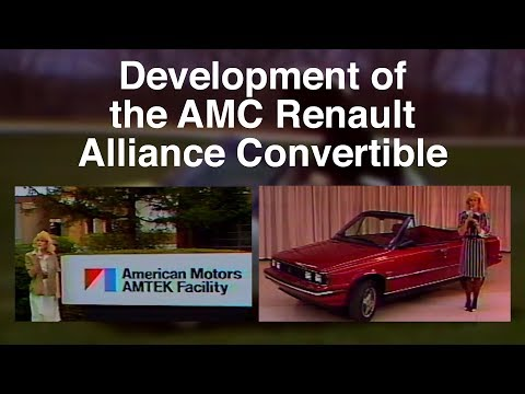Development of the AMC Renault Alliance Convertible - Factory Video