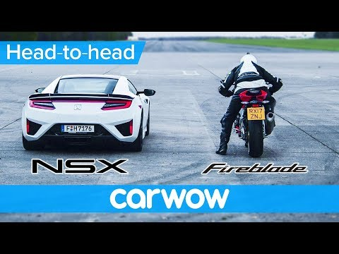 Honda NSX vs Honda CBR1000RR 2018 DRAG RACE & ROLLING RACE | Which is quicker?