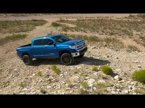 First 4x4 test Toyota Tundra after lift installed 2nd run