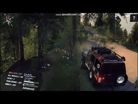 spintires - test drive toyota land cruiser70  di kelok 9 map kintamani
